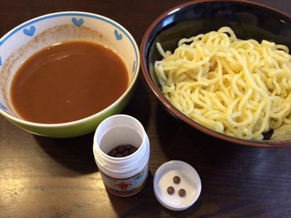 つけ麺とメタバリア3粒