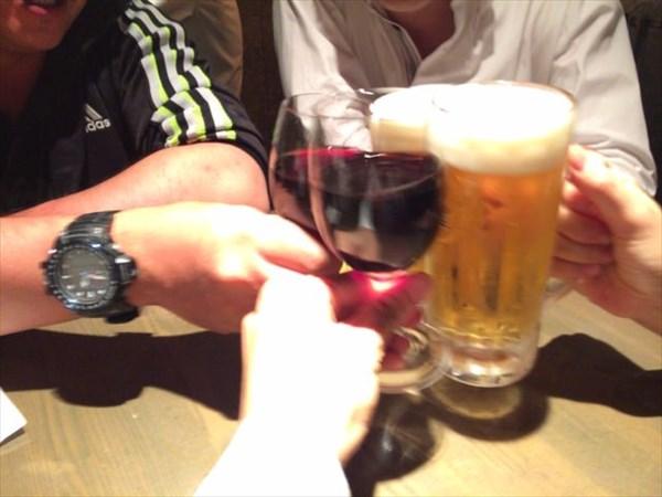 4件目で乾杯