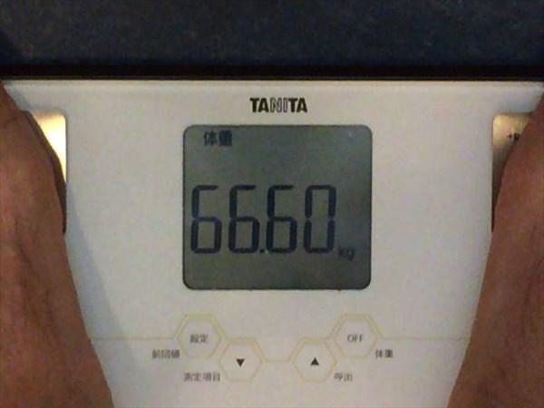 2014年10月第1週目の体重66.6kg
