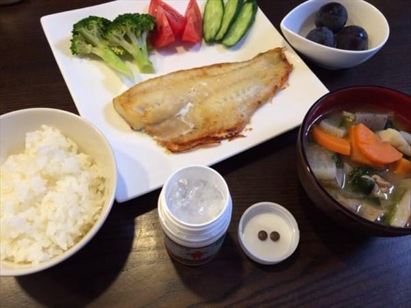 焼き魚とメタバリア2粒