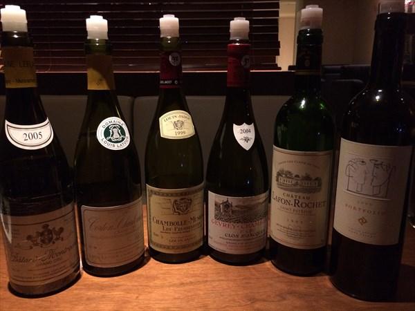飲んだグラスワインのボトル6本