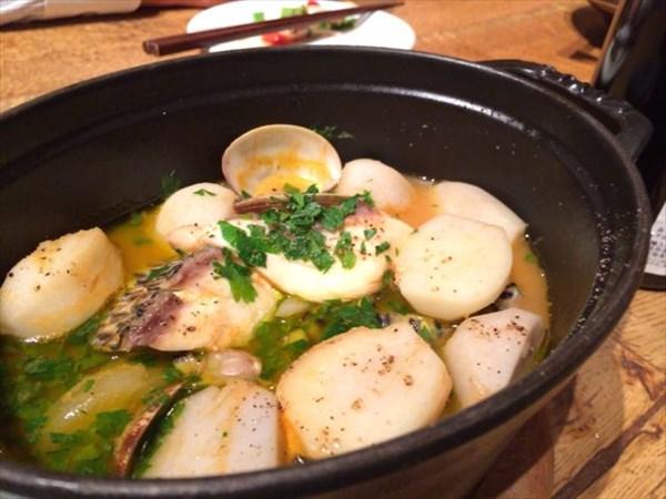 魚とホタテのスープ