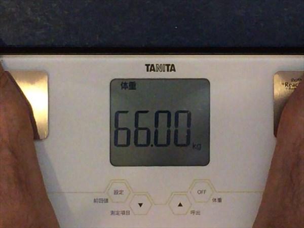 2014年10月第3週目の体重66.0kg