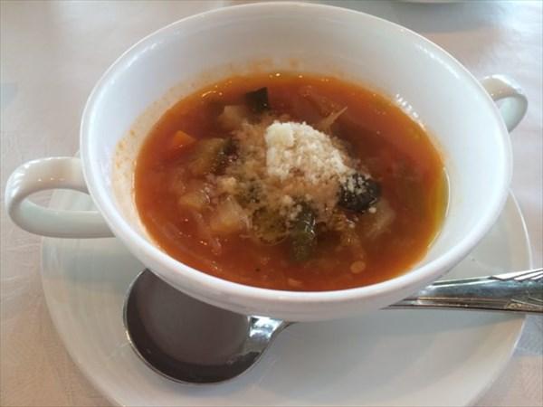 ランチコースのスープ