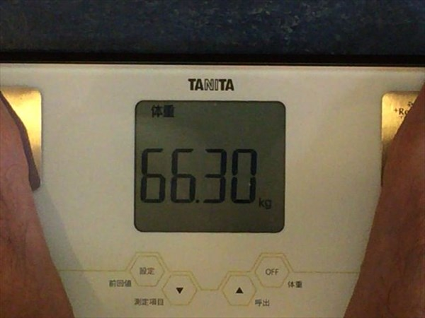 2014年10月第4週目の体重66.3kg