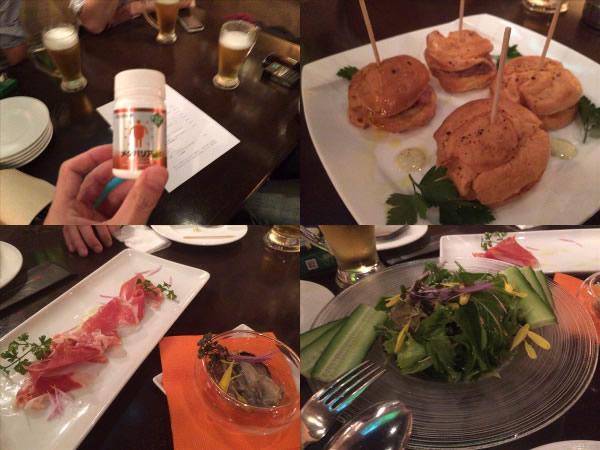 飲み会で食べた料理とメタバリア