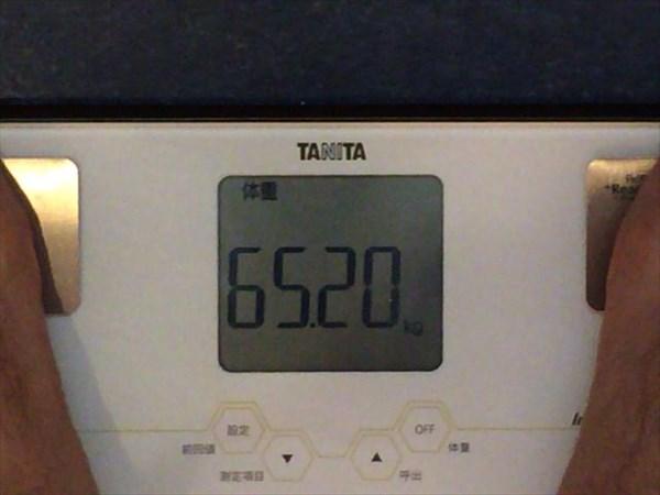 2014年10月第5週目の体重65.2kg