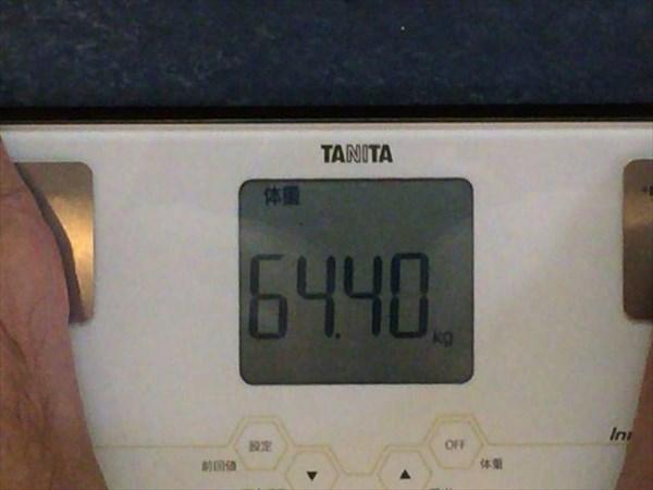 2014年11月第1週目の体重64.4kg