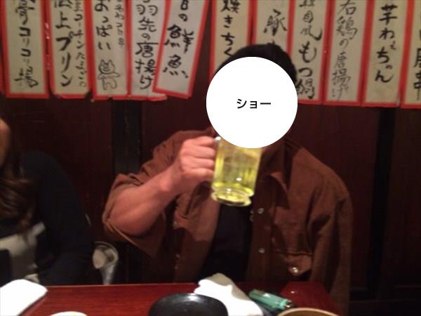 満面の笑みのショーさん(顔隠しver.)