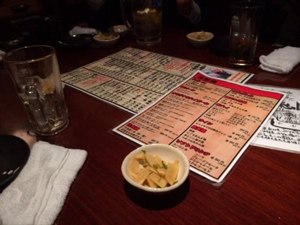 22:52のテーブルの様子