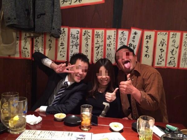 酔っ払い中の3人