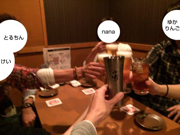 参加者全員で乾杯!