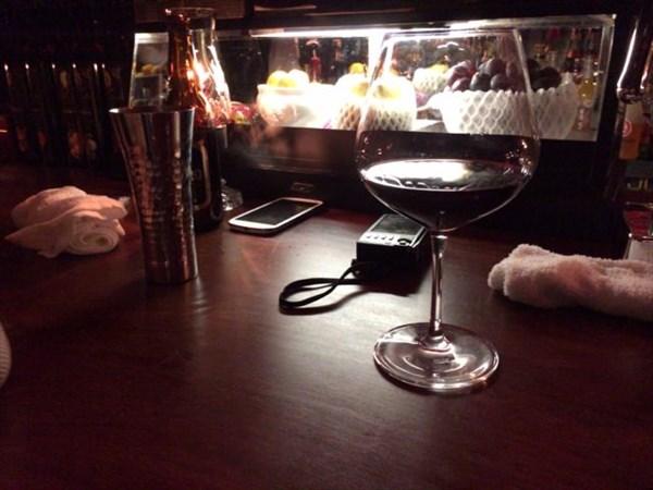オーダーした赤ワイン
