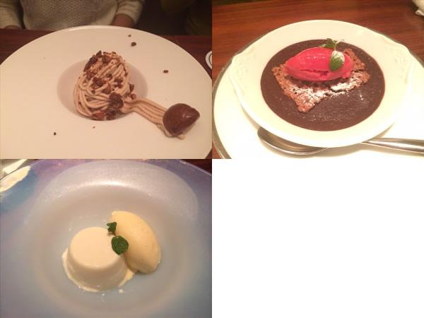 3種類のデザート