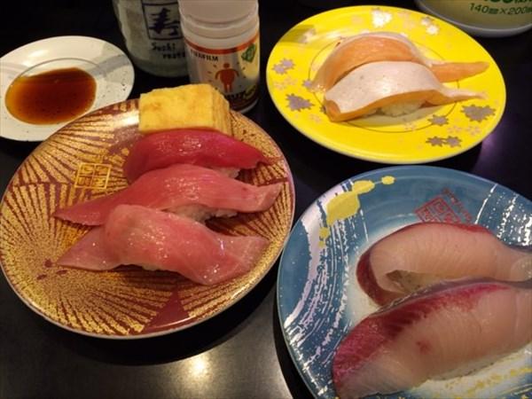 元祖寿司 羽田空港第2ターミナル店で食べた寿司