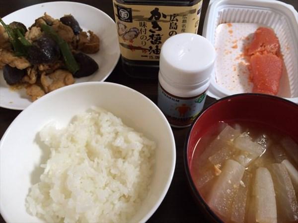 牡蠣のりと明太子とご飯とメタバリア
