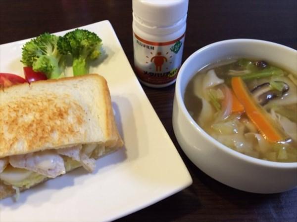 水曜日の朝食のパンとスープとメタバリア