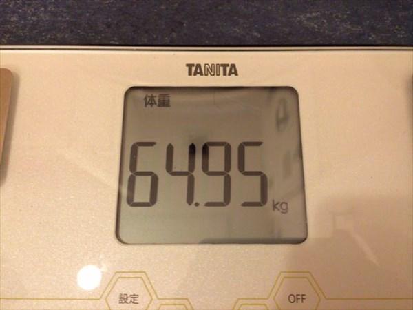 2014年12月第2週目の体重64.95kg