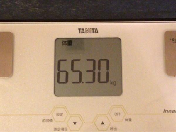 2014年12月第3週目の体重65.3kg