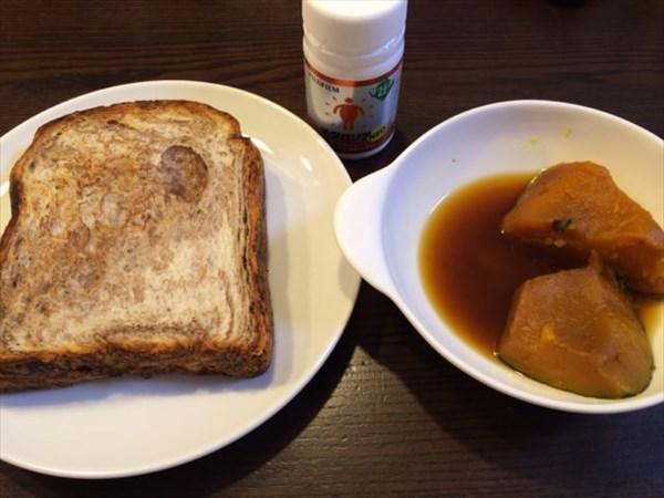 チョコデニッシュ食パンとかぼちゃとメタバリア