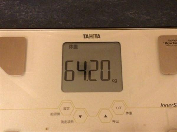 2015年1月第2の体重64.2kg