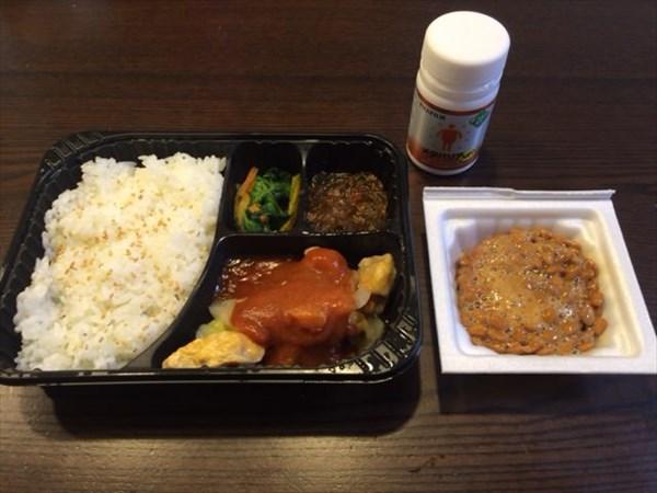 ダッカルビ弁当と納豆とメタバリア