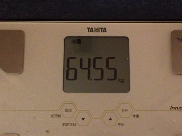 2015年1月第3週の体重64.55kg