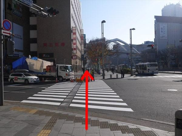 富士見東電前の交差点を直進