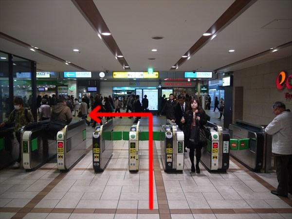 JR立川駅の西改札
