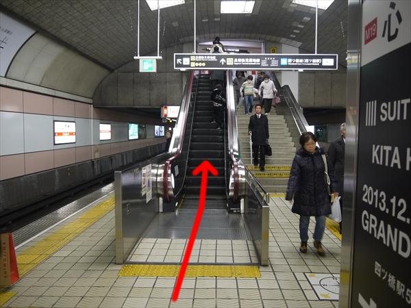 心斎橋駅のエスカレーター