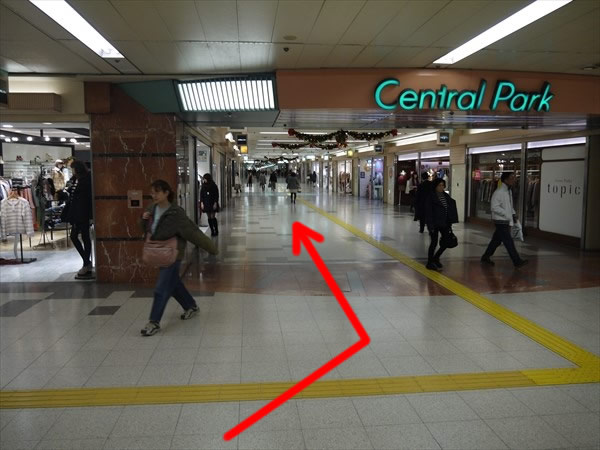 Central Parkを直進