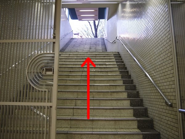 階段を上って...