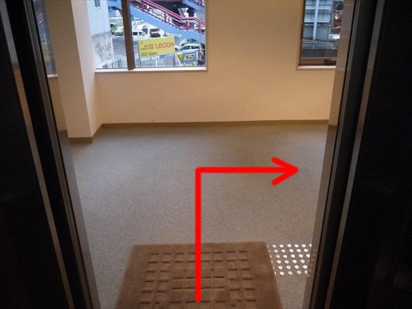 エレベーターで2Fへ