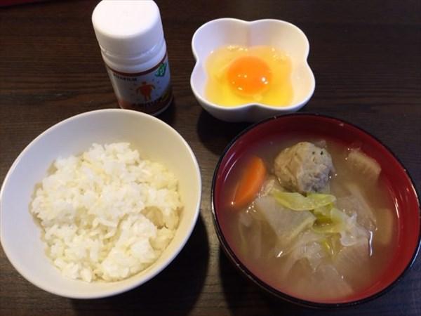 卵かけご飯と味噌汁とメタバリア