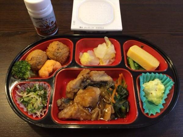 バランスのとれたお弁当と納豆とメタバリアスリム