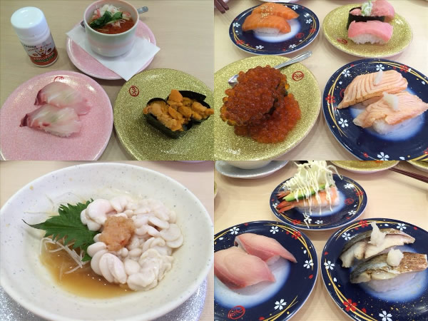 回転寿司で食べたものとメタバリアスリム