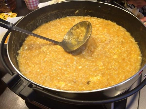 キムチチゲ鍋後に食べた雑炊