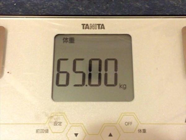 2015年2月第3週の体重65.0kg