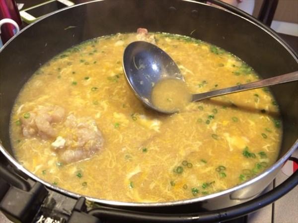 もつ鍋後の雑炊