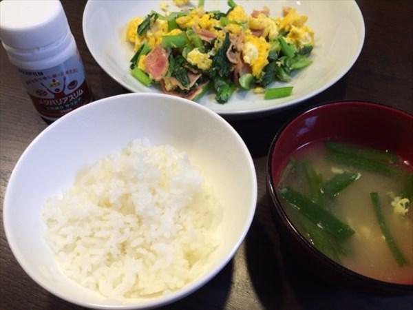 ご飯と味噌汁とおかずとメタバリアスリム