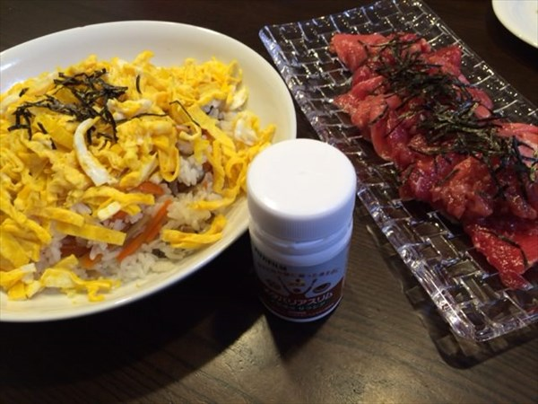 ちらし寿司とまぐろの中落ちとメタバリアスリム