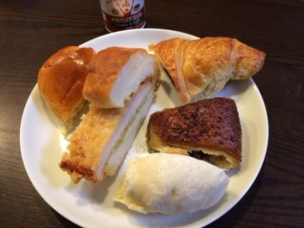 いろいろなパンとメタバリアスリム