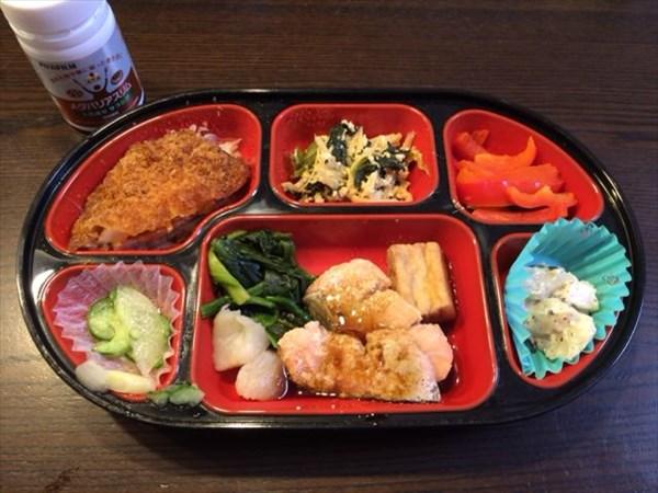 火曜日の夕食で食べた生協弁当とメタバリアスリム