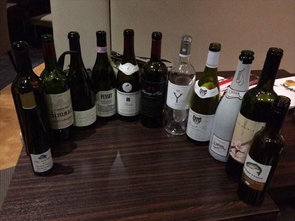 ワイン会で飲んだワインのボトル