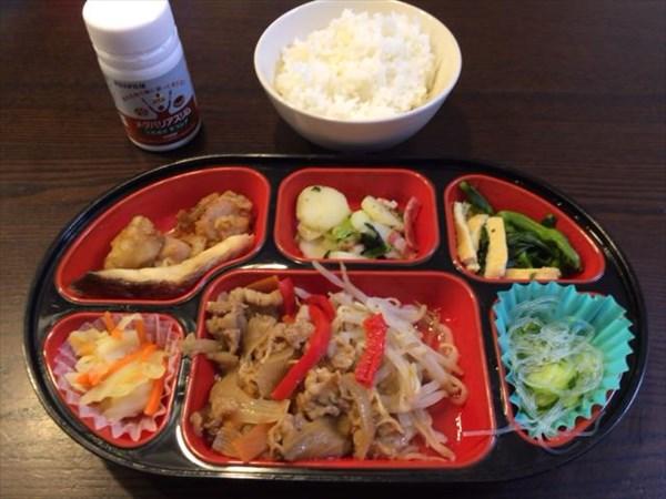 生協のお弁当とご飯とメタバリアスリム