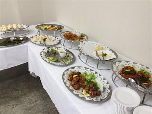 懇親会会場で出された料理