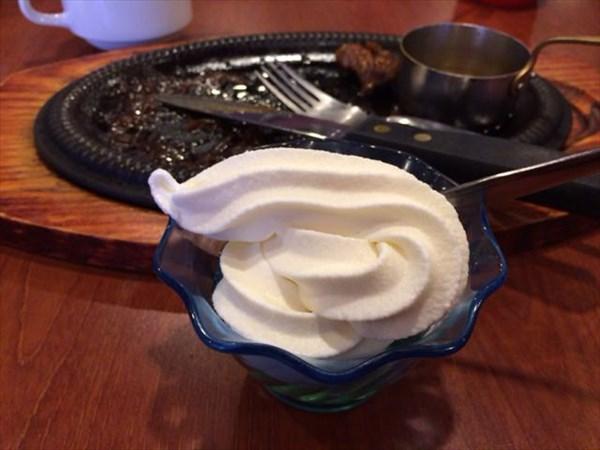食後のソフトクリーム