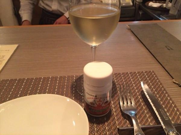 白ワインとメタバリアスリム