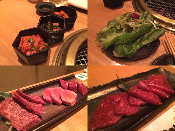 よろにくのサラダや赤身肉