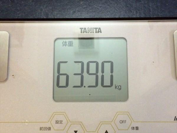 2015年4月第2週の体重63.9kg